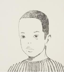 """Xavier,"" 1965 Ruth Asawa (American, 1926-2013) Lithograph Sheet: 11 x 9-1/2 in. (27.9 x 24.1 cm) Norton Simon Museum, Anonymous Gift, 1966 P.1966.07.155 © 2014 Estate of Ruth Asawa"