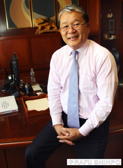 Los Angeles County CEO Bill Fujioka at his office in downtown L.A. He will be retiring on Dec. 1.