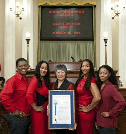 Assemblymember Mariko Yamada presented her final resolution on the Assembly floor to