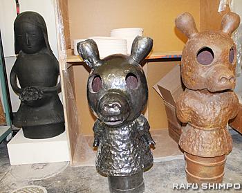 埴輪をモチーフにした作品も数多く制作している