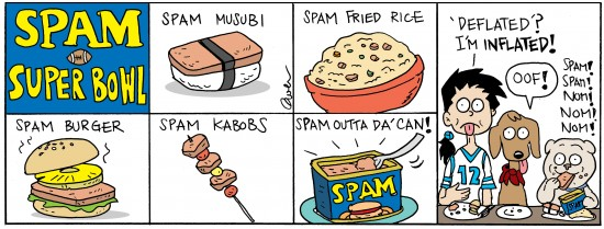 noodles spam super bowl