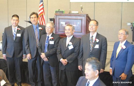 The 2015 cabinet members. Second from left is Derek Furukawa, president of SCGF. (RYOKO NAKAMURA/Rafu Shimpo)