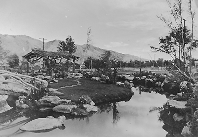 Japanese garden at Manzanar War Relocation Center created by Nagumo and volunteers. (Photo courtesy of SCGF)