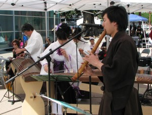 Los Angeles Todo-Kai performed during the outdoor program.