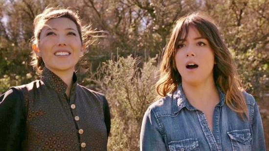 Skye (Chloe Bennet) training with her mother, Jiaying (Dichen Lachman).