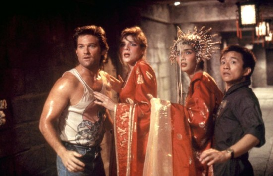 """Kurt Russell, Kim Cattrall, Suzee Pai and Dennis Dun in a scene from """"Big Trouble in Little China."""""""