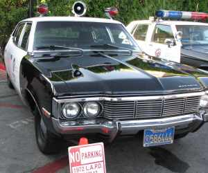 """Vintage patrol cars on display included one from the 1970s TV show """"Adam 12."""""""
