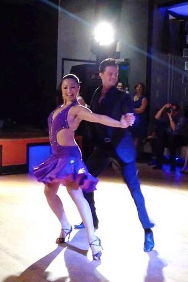 Marisa Hamamoto and her dance partner, Brian Fortuna. (Photo courtesy of Marisa Hamamoto)
