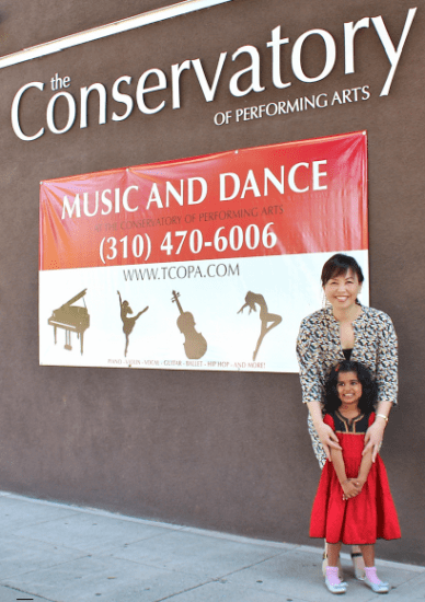 Shiho Yamamoto, Conservatory of Performing Arts founder, with Swara Amare, ColorSoundation's 1,000th student.