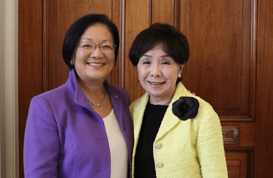 Sen. Mazie Hirono (left) tweeted this photo of herself with Rep. Doris Matsui.
