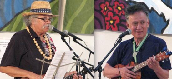 Musicians Kinki Kingi and Gary Yano.