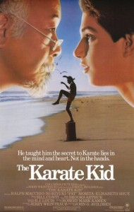 """Poster for the first """"Karate Kid"""" movie."""