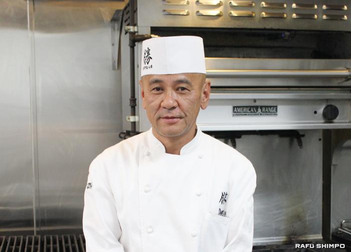 ロサンゼルスを中心に7店舗のレストランを経営する「KATSU-YAグループ」取締役会長の上地氏
