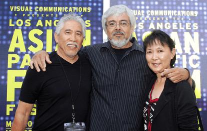 Mario Reyes with Steve and Patty Nagano.