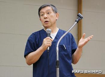 医者として33年、敬老看護ホームの高齢者たちのケアをしている松本健医師