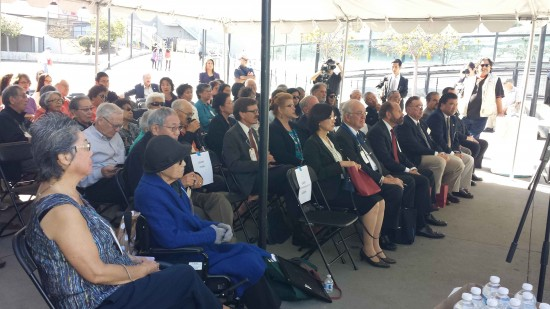 The audience at the kickoff event included former internees and their families.
