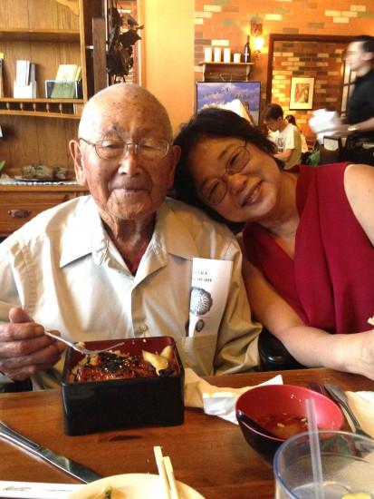 Mas Inoshita and his daughter, Marilyn Inoshita Tang.
