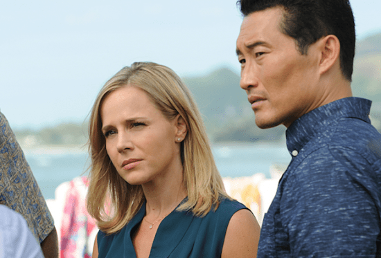 Chin Ho with current flame Abby Dunn (Julie Benz).