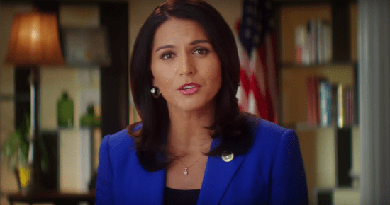 Rep. Tulsi Gabbard explains her reasons for supporting presidential candidate Bernie Sanders in a video.