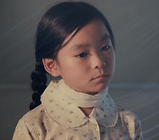 禎子さんが涙を流すシーン
