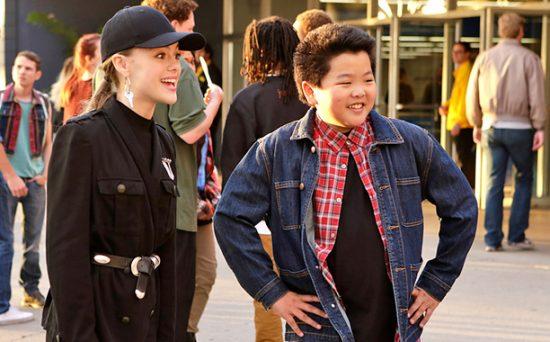 The real Alison (Isabella Alexander) with Eddie (Hudson Yang).