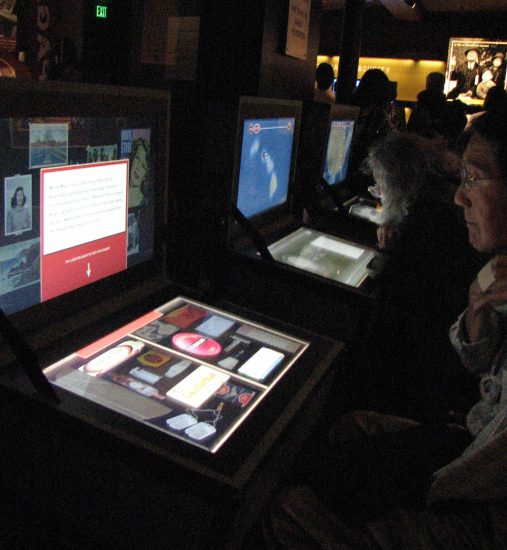 Interactive stations enabled visitors to explore different aspects of the Japanese American wartime experience.