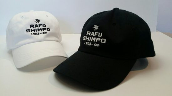 Baseball caps feature The Rafu logo and the dates 1903 to infinity.