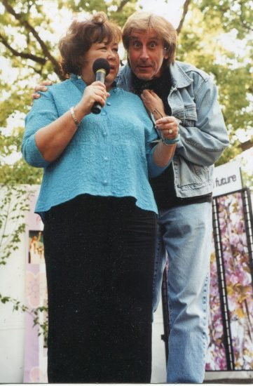 Kellye Nakahara Wallett and Jeff Maxwell as the Southern California Cherry Blossom Festival.