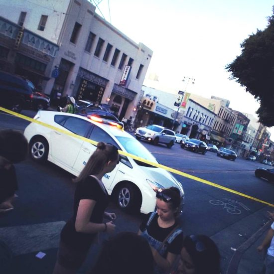 First Street was closed to traffic and pedestrians during the standoff. (Photo by Ray Nagar)