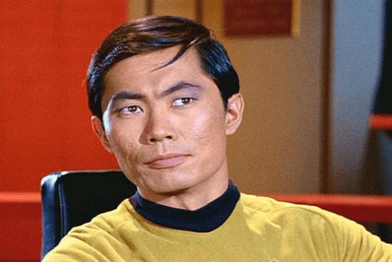 """George Takei as Sulu in the original """"Star Trek"""" series."""