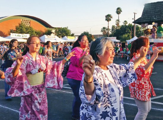 The Obon Festival drew a large crowd of dancers.
