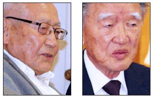 Speakers include Masaru Namba and Junji Sarashina. (Rafu Shimpo photos)