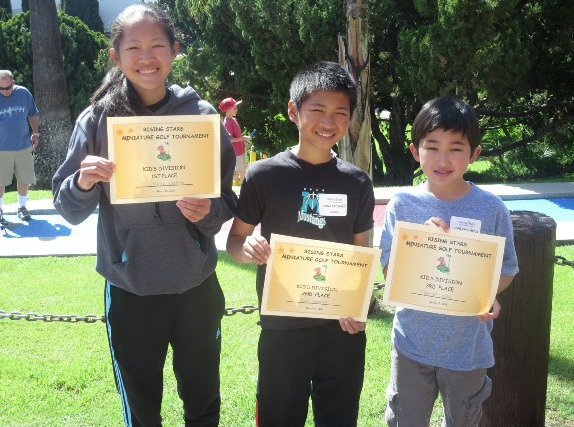 Kid winners (from left): Grace Sadahiro, first place; Kana Sadahiro, second place.