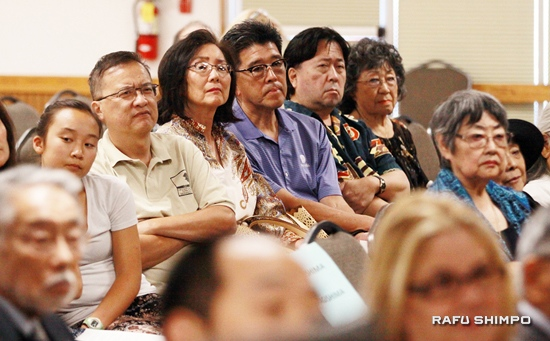 The event at the San Fernando Valley Japanese American Community Center drew a full house, including descendants of people who were held at Tuna Canyon Detention Station.
