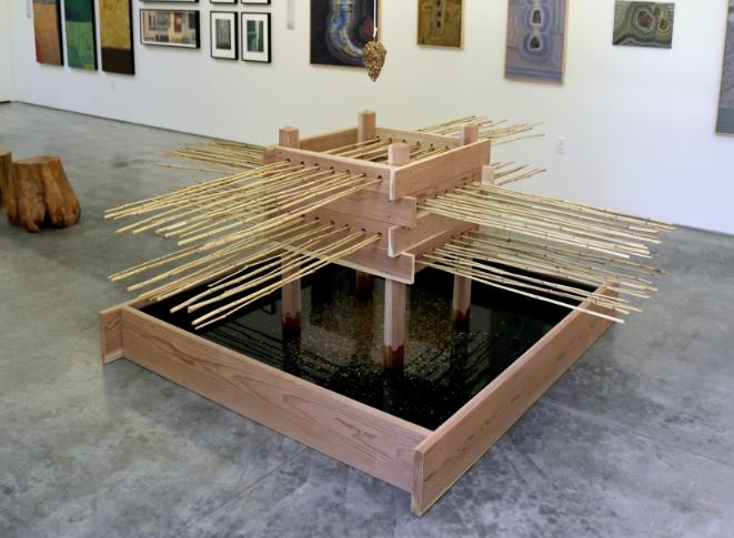 """Internal Dialog"" by Mineko Grimmer is part of the exhibit. (Descanso Gardens)"