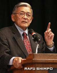 Former Secretary of Transportation Norman Mineta talked about his family's wartime experiences.