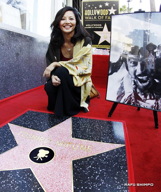 """Actress Tamlyn Tomita attended the ceremony. She and Toshiro Mifune appeared in Kayo Hatta's 1995 film """"Picture Bride."""""""