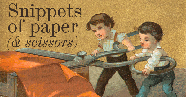 Careful with those scissors, kids!