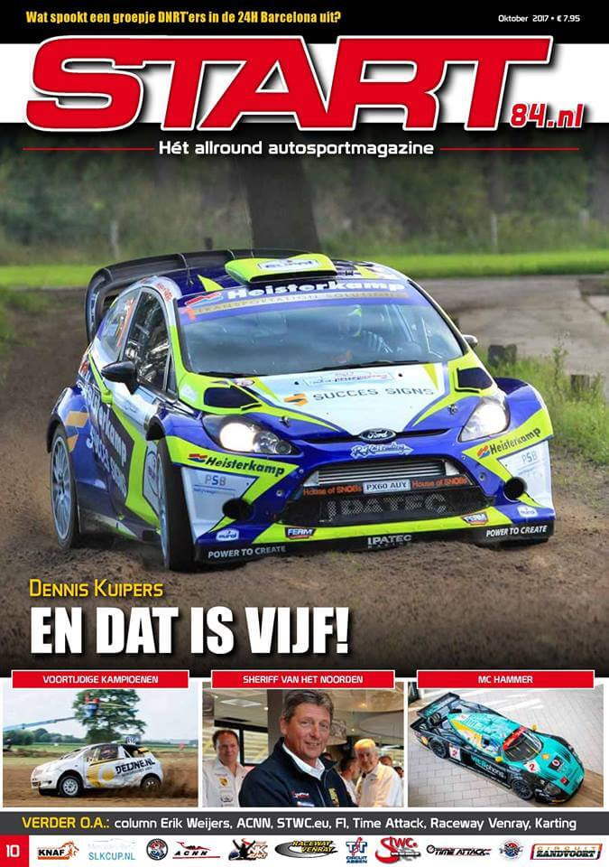 Cover van autosportmagazine Start 84 van oktober 2017 met daarin bijdragen van Ralph Stoové