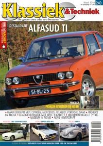 Cover van Klassiek en Techniek editie 240 van maart 2018 met een artikel van Ralph Stoove over de Lancia Beta HPE 2000
