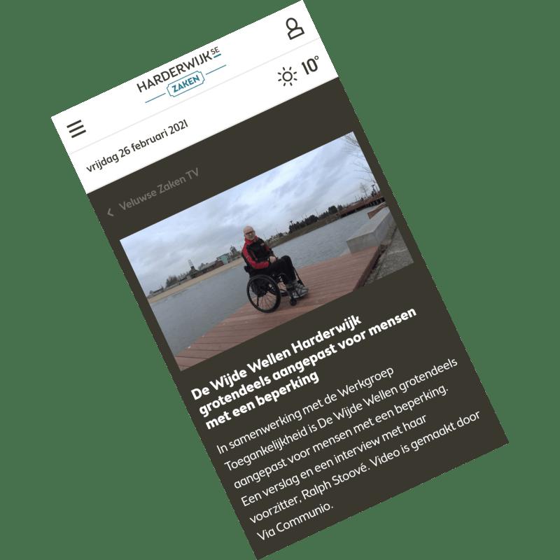 2021-02-23 De Wijde Wellen Harderwijk grotendeels aangepast voor mensen met een beperking, door Via Communio – Harderwijkse Zaken