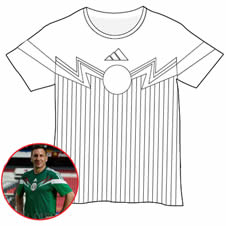 mexico soccer shirt coloring page jpg