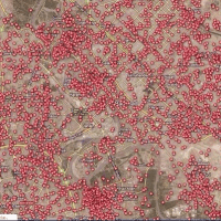 A map of every car bomb explosion in Baghdad since 2003