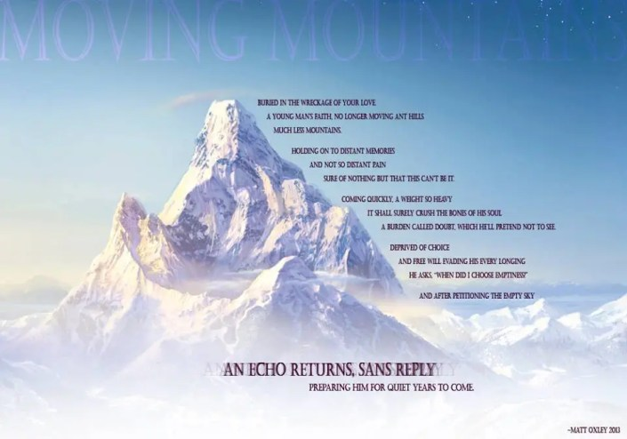Moving Mountains - Poem
