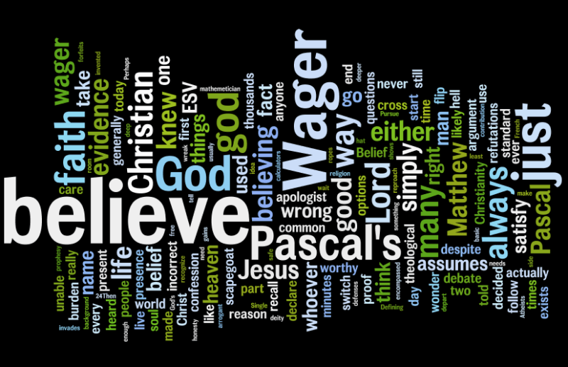 Pascal's Wager Word Cloud