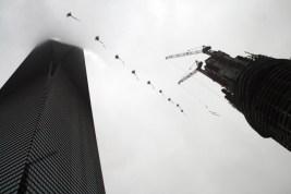 Cerf-volant contre gratte-ciels