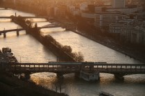La Seine et l'île artificielle aux Cygnes
