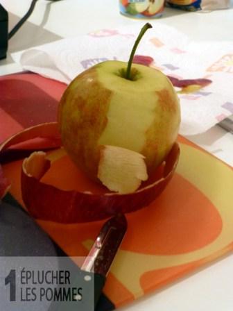 Éplucher les pommes