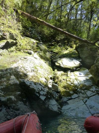 Visite dans une gorge de la Dart River