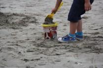 Les premiers pâtés de sable
